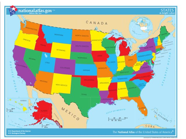 USA States by Tanner Greene