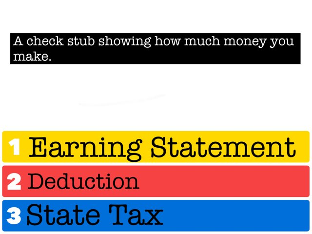 Earning Statement Vocabulary by Carly Willey
