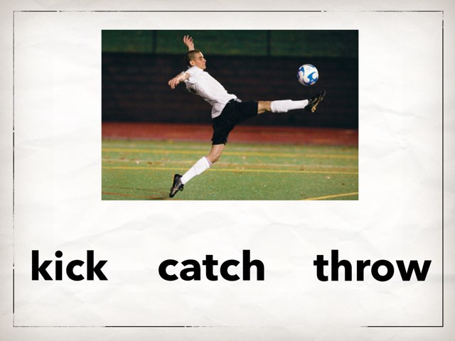 Sports and Class Verbs by Erin Park