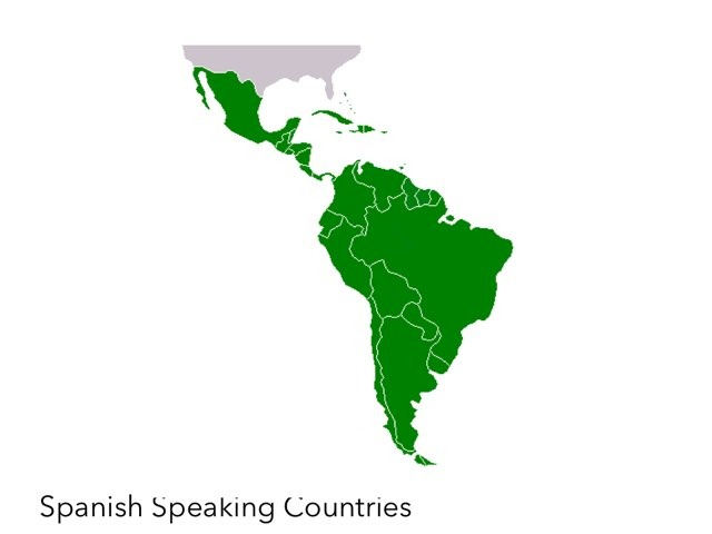 Spanish Speaking Countries Map by Terese Vogel