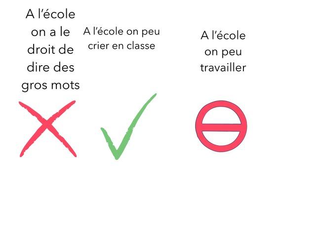 A L'ecole Il Ne Faut Pas ... by Lin