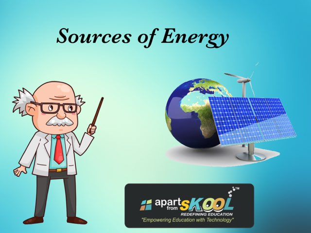 Sources Of Energy by TinyTap creator