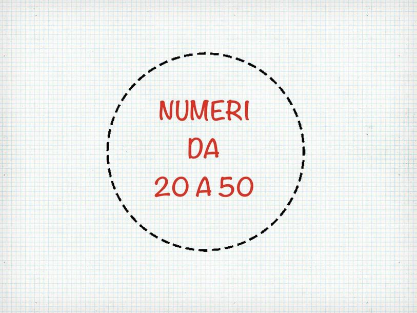 Numeri Da 20 A 50 by Primaria Interattiva