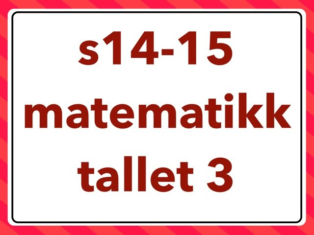 matematikk: tallet 3 by Laksen HarEn