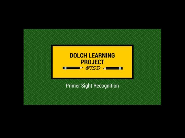 Sign ID 3: Dolch Primer by TSD Library