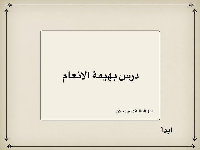 بهيمة الانعام by lama tag