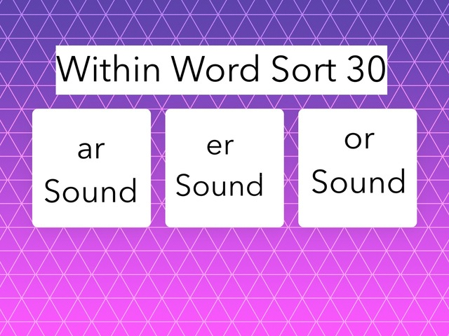 Within Word Sort 30 by Erin Moody