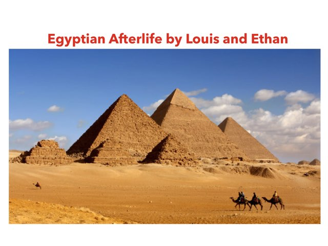 Egyptian game by Louis,Ethan by St Cecilias