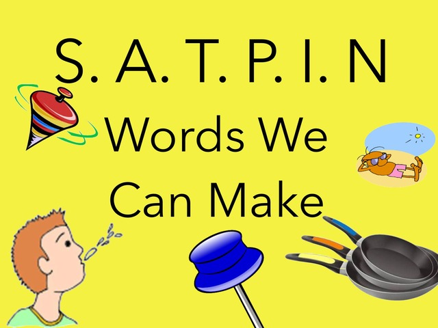 SATPIN Words We Can Make by Sonia Landers