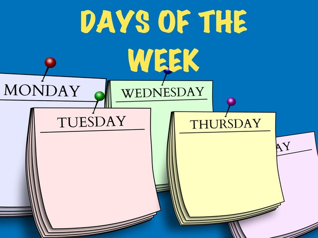 Days Of The Week Puzzle Game by English Time