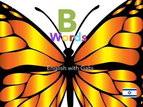 B Words מילים באנגלית by English with Gabi אנגלית עם גבי