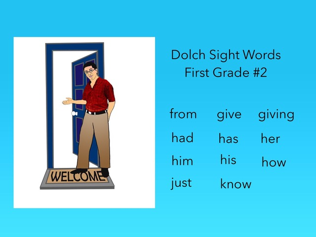 Dolch Sight Words: First Grade #2 by Carol Smith