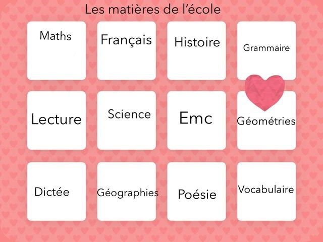 Le Jeux des Matières  by Emilie Bontemps