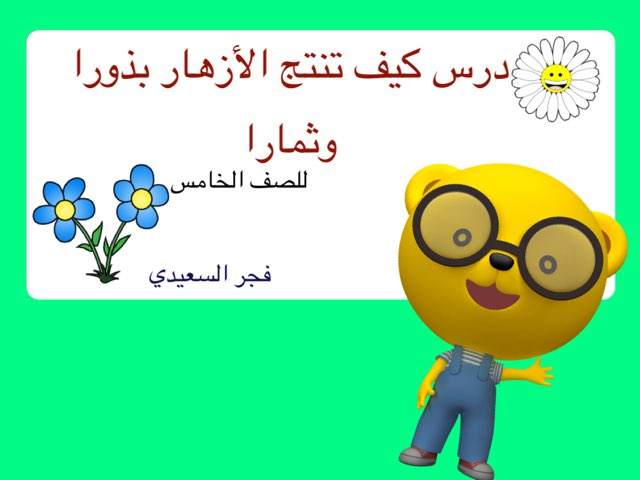 درس كيف تنتج الأزهار بذورا وثمارا by Fajer Alsaeedi
