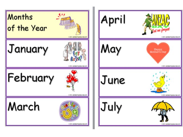 The Months Of The Year Game by Mariam Abu Kamar