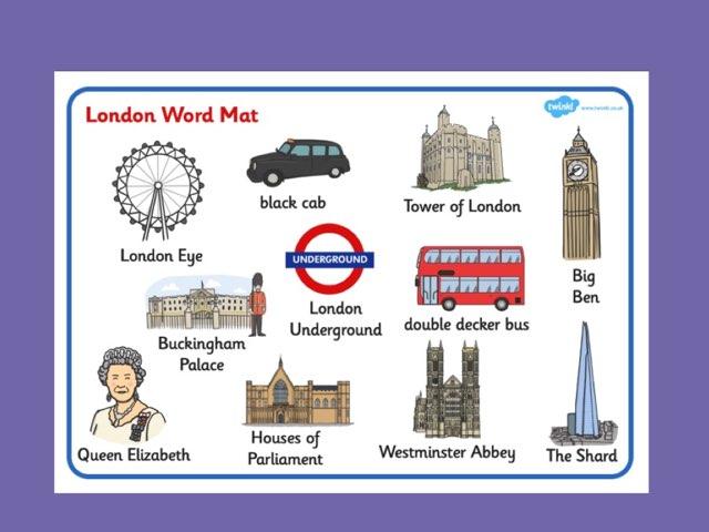 London Landmarks Word Match by Deborah Fletcher