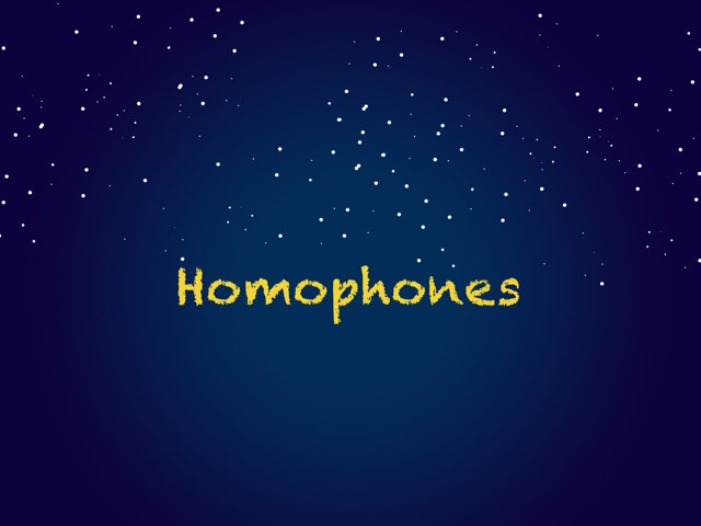 Homophones  by Ryan Fearing