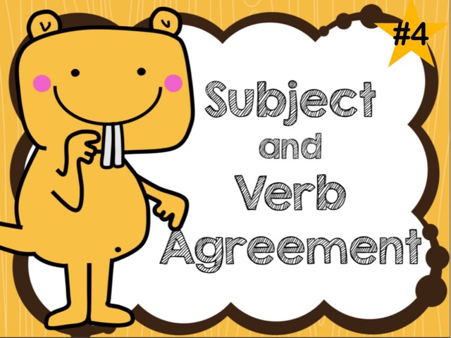 Subject and Verb Agreement Game #4 by Jennifer