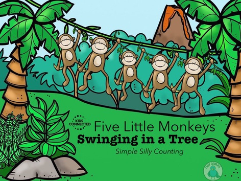 Simple Silly Counting: 5 Monkey Swinging In A Tree (EN UK) by Kids  Connected