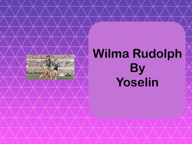 Wilma Rudolph By Yoselin by Christine Snow