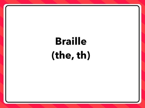 Braille: The, Th by Lori Board