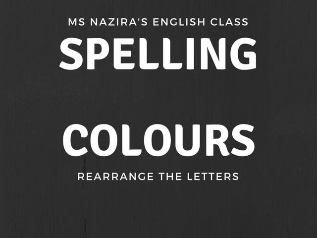 SPELL-COLOURS by Nazira Roslee