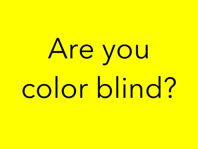 Are You Colorblind by Daniel Thompson