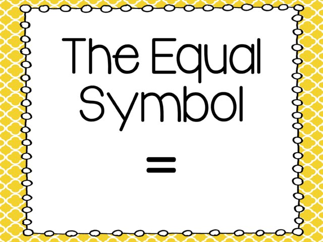 The Equal Symbol by Megan Bengs