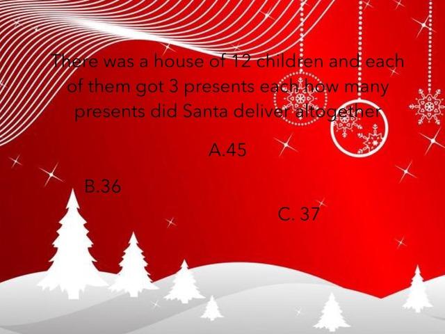Christmas Maths Quiz  by Gemma Clarke