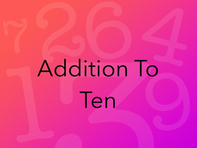 Addition To Ten by Kimberly Lamoureux