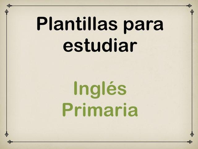 Plantillas para estudiar. Inglés Primaria by Elysia Edu