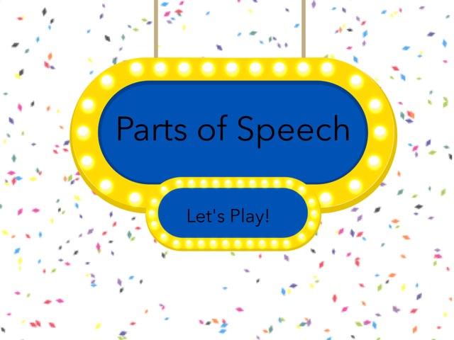 Parts Of Speech 2nd Grade by Melodi Kunn