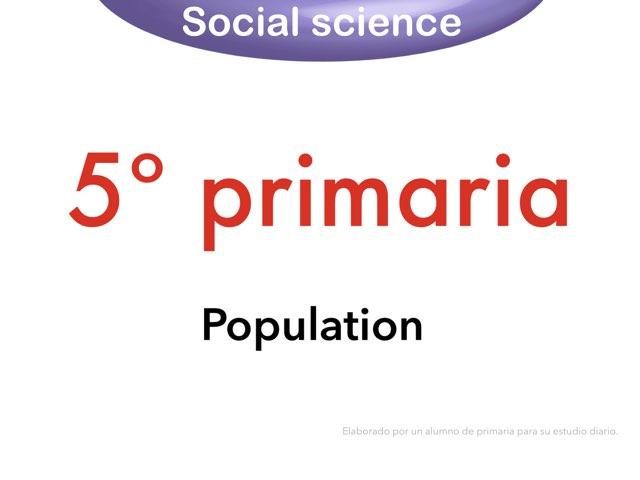 Social Science. Population by Elysia Edu
