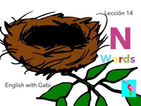 Lección 14:  N Words -Palabras en Inglés  by English with Gabi אנגלית עם גבי