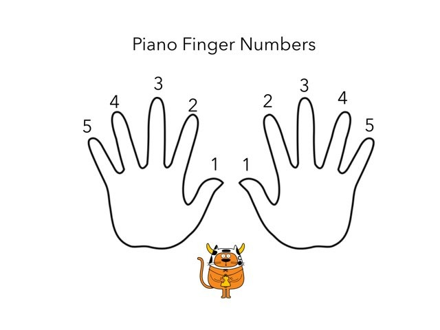 Piano Finger Numbers by Leilah smith