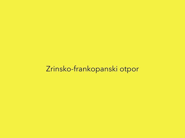 Zrinsko-frankopanski otpor by Borka Sladonja