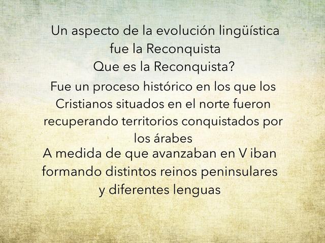 Aspecto De La evolución Lingüística by Aitana Longobardo