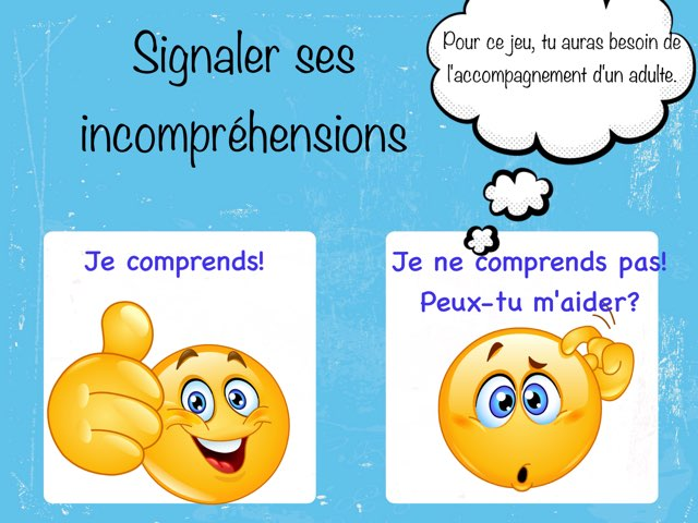 Signaler ses incompréhensions by Marie-Claude GR