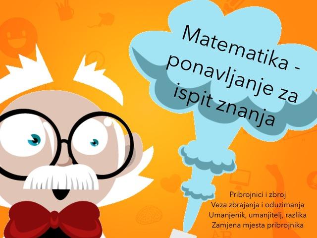 Ponavljanje Matematika by natasa delac