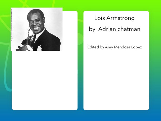 Louis Armstrong By Adrian C by Christine Snow