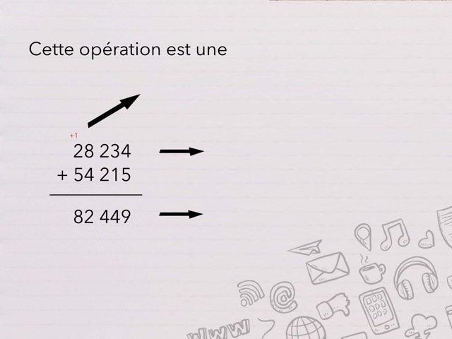 Vocabulaire des quatre opérations... by Cédric Houbrechts