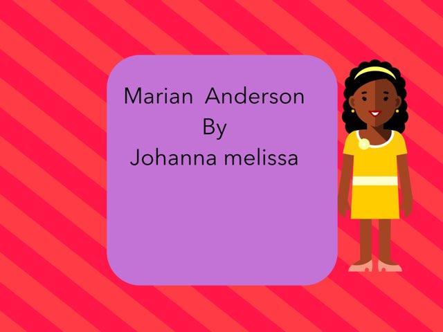 Marian Anderson By Johanna by Christine Snow