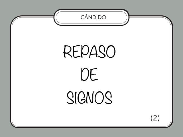 REPASO DE SIGNOS  by Zoila Masaveu