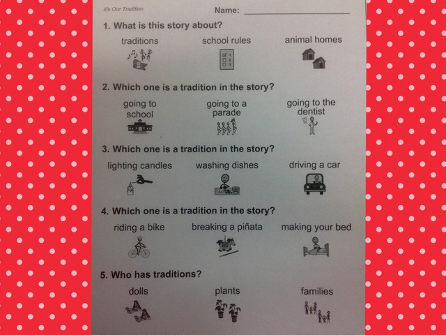 December Unit Intro. Comprehension  by Tanya Folmsbee