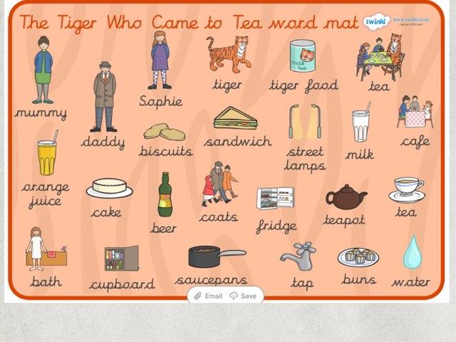 Tiger Who Came To Tea Word Puzzle by Deborah Fletcher