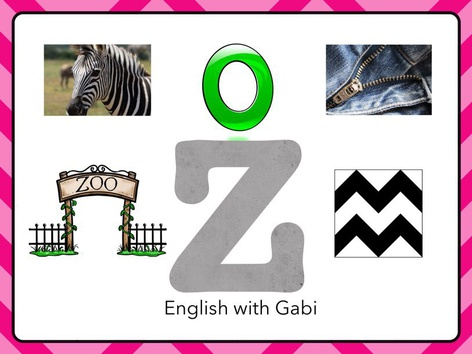 Letter Z: Learning Letter Sounds by English with Gabi אנגלית עם גבי