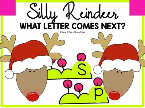 Silly Reindeer What Letter Comes Next? by Yara Habanbou