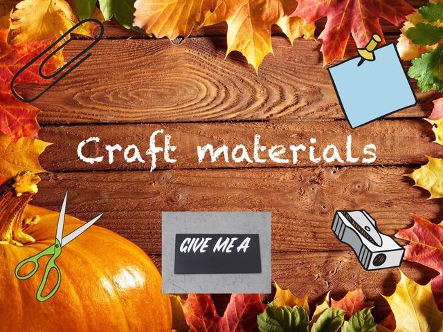 Craft Materials Vocabulary by Sara Burgueño Peña