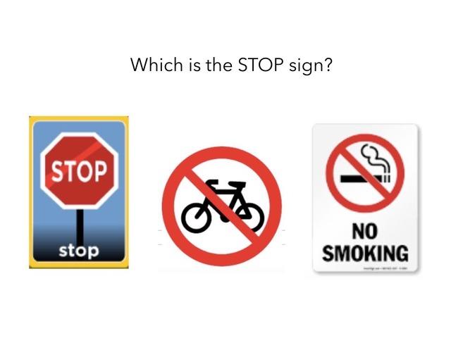 Safety Sign by Kinder Carmel