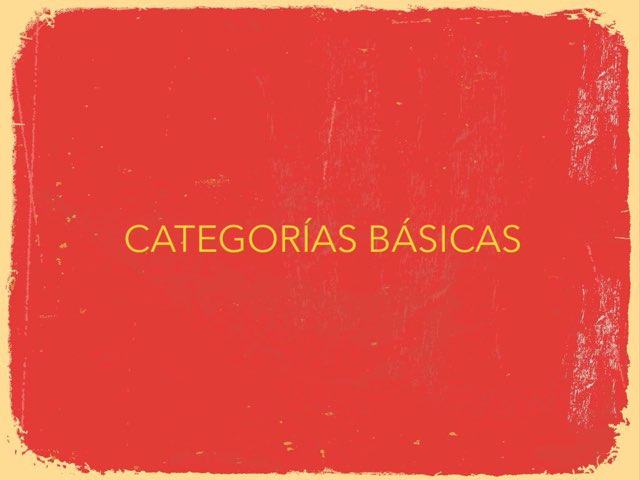 CATEGORÍAS BÁSICAS by GABY Banon